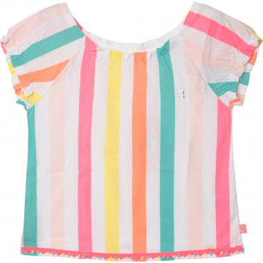 Short-sleeved striped blouse BILLIEBLUSH for GIRL