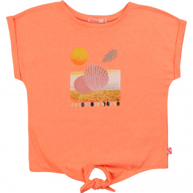 Loose T-shirt with knotted hem BILLIEBLUSH for GIRL
