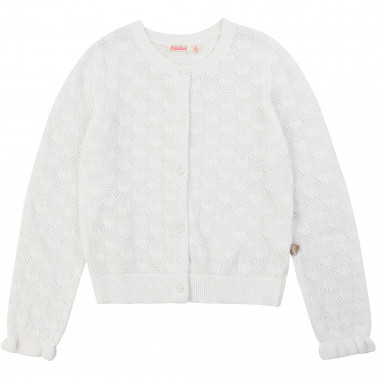 Heart-motif tricot cardigan BILLIEBLUSH for GIRL