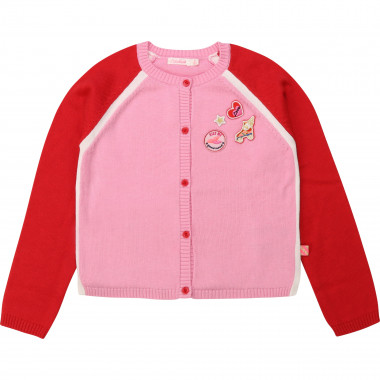 Cotton cardigan with patches BILLIEBLUSH for GIRL