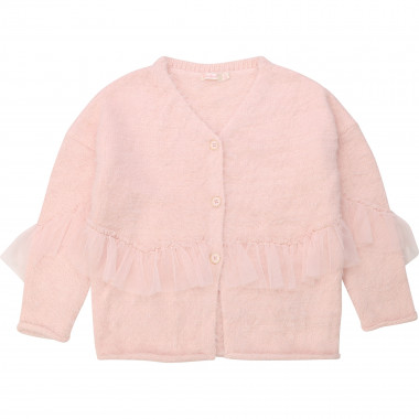 Fluffy knitted cardigan BILLIEBLUSH for GIRL