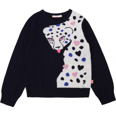 Patterned tricot jumper BILLIEBLUSH for GIRL