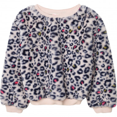 Printed faux fur sweatshirt BILLIEBLUSH for GIRL