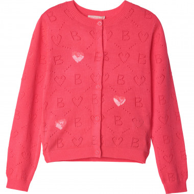 Cardigan with openwork motifs BILLIEBLUSH for GIRL