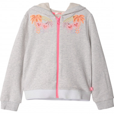 Embroidered hooded cardigan BILLIEBLUSH for GIRL