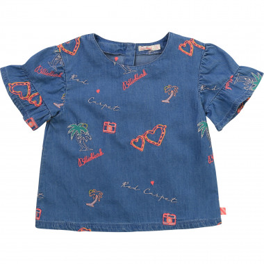 Embroidered denim blouse BILLIEBLUSH for GIRL