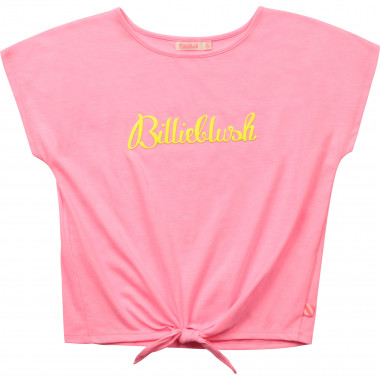 Jersey T-shirt with tied hem BILLIEBLUSH for GIRL
