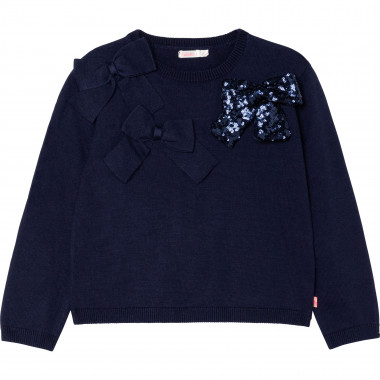 Tricot jumper with bows BILLIEBLUSH for GIRL