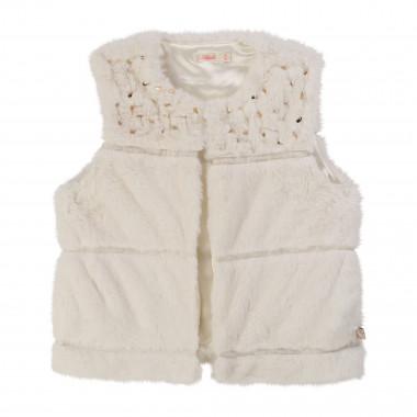 Sleeveless fur gilet BILLIEBLUSH for GIRL
