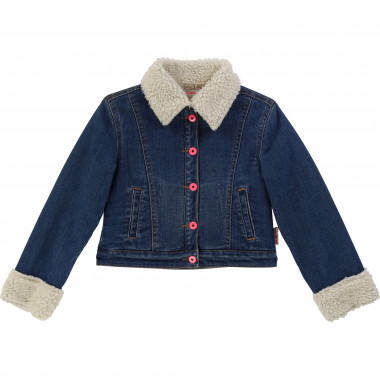 Sherpa-lined denim jacket BILLIEBLUSH for GIRL