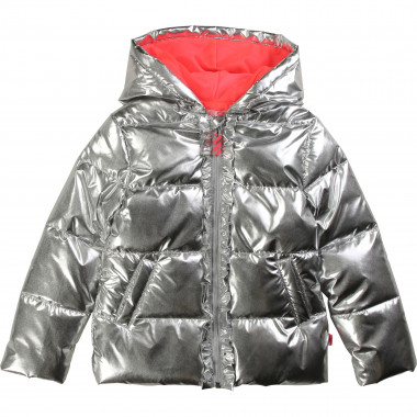 Metallic hooded jacket BILLIEBLUSH for GIRL