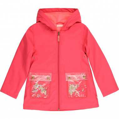 Coated hooded raincoat BILLIEBLUSH for GIRL