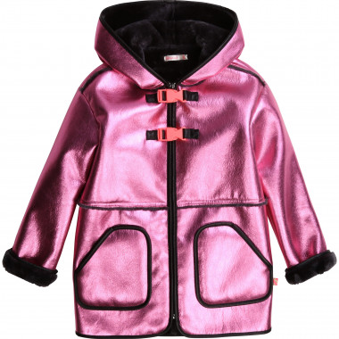Faux shearling hooded coat BILLIEBLUSH for GIRL