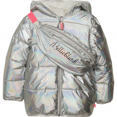 Hooded puffer jacket and bag BILLIEBLUSH for GIRL