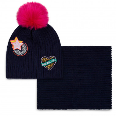 Beanie and snood with sequins BILLIEBLUSH for GIRL