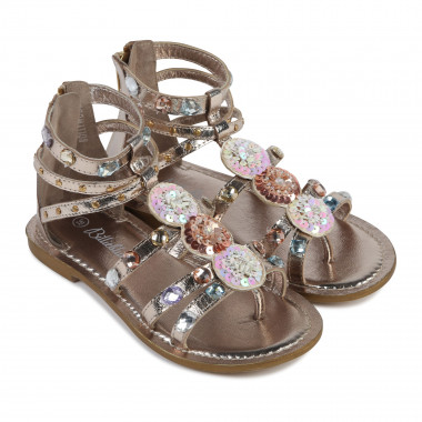 Golden sandals BILLIEBLUSH for GIRL