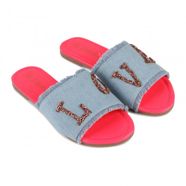 Denim mules with rhinestones BILLIEBLUSH for GIRL