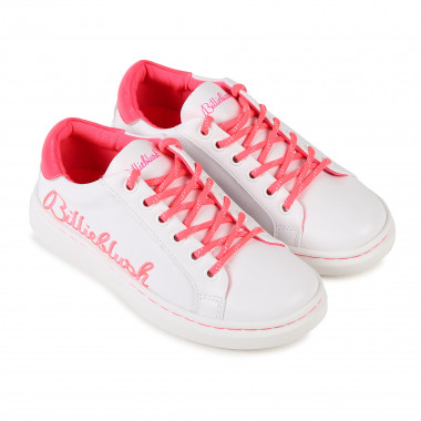 Embroidered leather trainers BILLIEBLUSH for GIRL