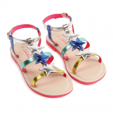 Metallic leather sandals BILLIEBLUSH for GIRL