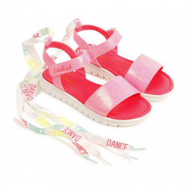 Sequined ribboned sandals BILLIEBLUSH for GIRL