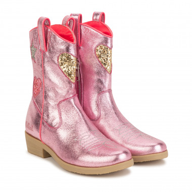 Zipped leather cowboy boots BILLIEBLUSH for GIRL