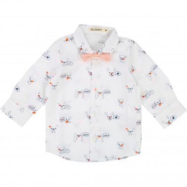 Cotton poplin shirt & bow tie BILLYBANDIT for BOY