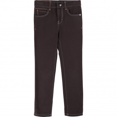 Slim-fit cotton twill trousers BILLYBANDIT for BOY