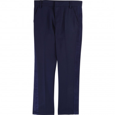 Plain wool twill trousers BILLYBANDIT for BOY