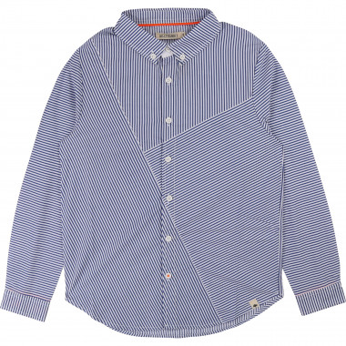 Striped poplin shirt BILLYBANDIT for BOY
