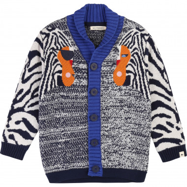 Jacquard knitted cardigan BILLYBANDIT for BOY