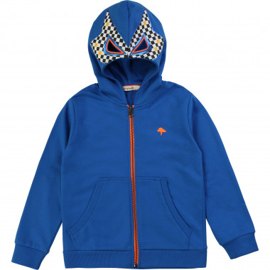 Novelty hooded cardigan BILLYBANDIT for BOY