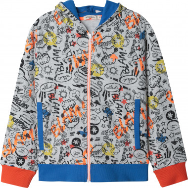 Zipped hooded cardigan BILLYBANDIT for BOY