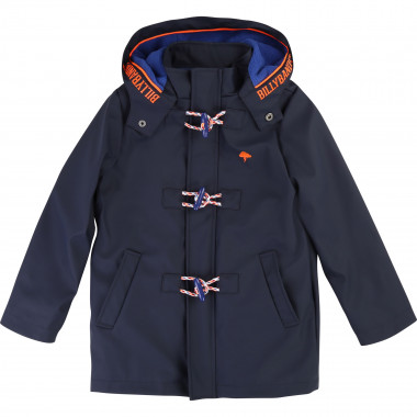 Fleece-lined hooded raincoat BILLYBANDIT for BOY