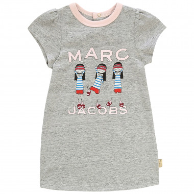 Printed cotton jersey dress THE MARC JACOBS for GIRL