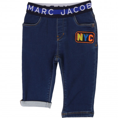 Denim-effect fleece trousers THE MARC JACOBS for BOY