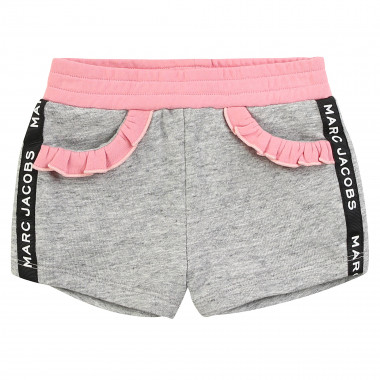 Shorts with frilled pockets LITTLE MARC JACOBS for GIRL