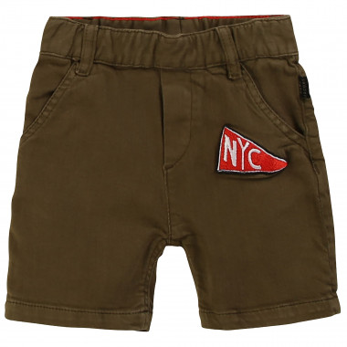 Plain twill Bermuda shorts LITTLE MARC JACOBS for BOY