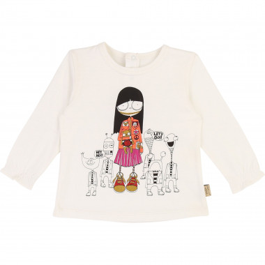 Cotton and modal T-shirt LITTLE MARC JACOBS for GIRL