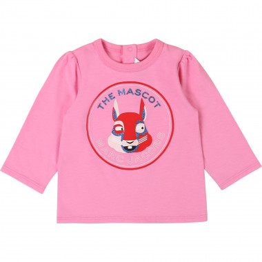 Glittery T-shirt 100% cotton THE MARC JACOBS for GIRL