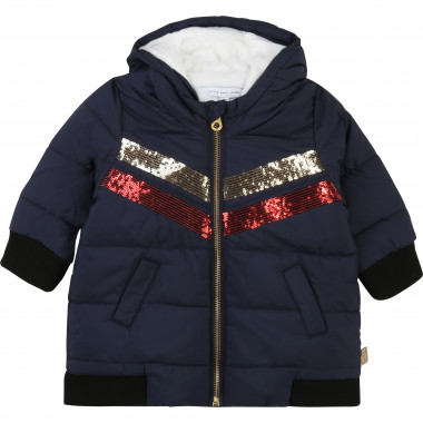 Hooded sequined winter jacket LITTLE MARC JACOBS for GIRL
