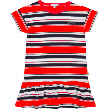 Dress with frills and stripes LITTLE MARC JACOBS for GIRL