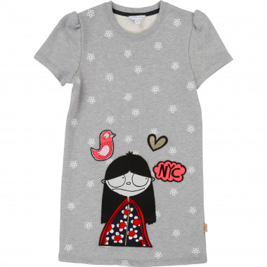 Patched and embroidered dress LITTLE MARC JACOBS for GIRL