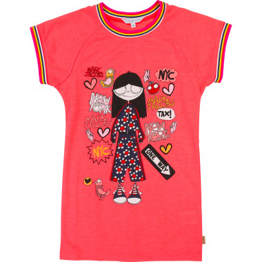 Printed dress with piping LITTLE MARC JACOBS for GIRL