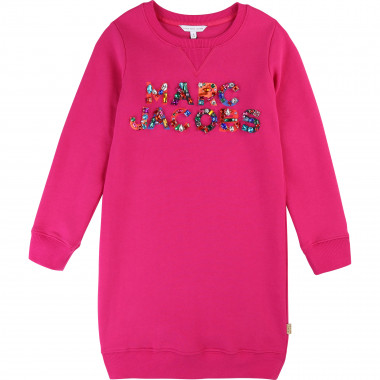 Fleece dress with logo LITTLE MARC JACOBS for GIRL