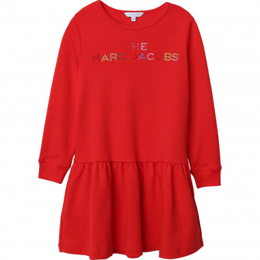 Cotton dress with rhinestones THE MARC JACOBS for GIRL