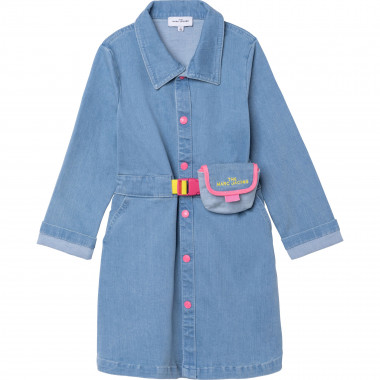 Denim dress with belt THE MARC JACOBS for GIRL