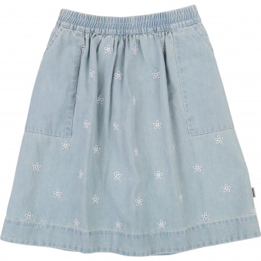 Embroidered flared denim skirt THE MARC JACOBS for GIRL