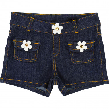Floral denim shorts LITTLE MARC JACOBS for GIRL