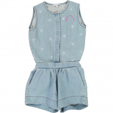 2-in-1 denim short playsuit LITTLE MARC JACOBS for GIRL