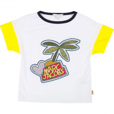 Patterned sequined T-shirt THE MARC JACOBS for GIRL